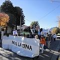 Vecinos marcharon contra provocación minera