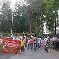 Caminantes concluyen marcha contra minería