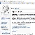El NO A LA MINA en Wikipedia