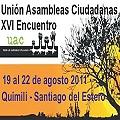 En Quimilí se realizará el XVI Encuentro de la UAC