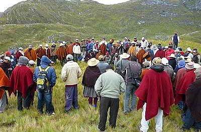 Paro campesino contra proyecto Conga de Yanacocha