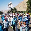 Multitudinaria marcha contra convención minera