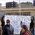 Trabajadores de minera protestan a la vera de la ruta