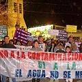 Marcha contra megaminería con más de dos mil personas