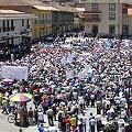 Miles de personas de paro protestan contra proyecto Conga