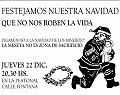 Frente a la empresa para decir «No a la Navidad de los mineros»