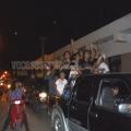 Un centenar de autos en caravana contra la represión