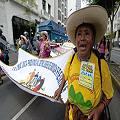 La 'marcha nacional del agua' llegó a Lima