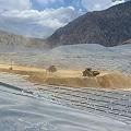 Colapso en pila de cianuración de Gualcamayo