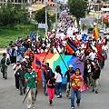 Los Pueblos Originarios marchan por el Agua en Ecuador