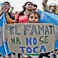 Continúa firme el corte selectivo a la minera en Famatina