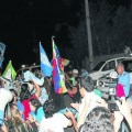 Caravana antiminera a la quinta del gobernador en Chilecito