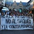 Críticas a la presidenta en Bariloche durante marcha contra la megaminería