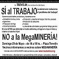 Información y marcha contra la megaminería en Trevelin