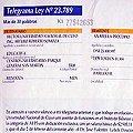 Telegrama de despido al Secretario de Minería de Río Negro