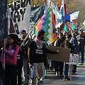 Marcha en defensa de la Ley contra la megaminería