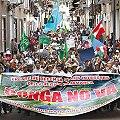 Multitudinaria movilización en primer día de paro indefinido de Cajamarca