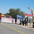 Ocupación pacífica en apoyo al corte a La Alumbrera