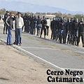 Violento desalojo en Cerro Negro y secuestro de colectivo de asambleístas