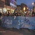 Violencia en la marcha antiminera