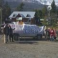 Volanteada en Ruta 40 contra megaminería en Chubut y Río Negro