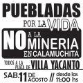 Pueblada contra minería en Villa Yacanto