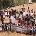 Marcharon 2 mil pobladores en contra de la minería