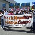 Marcha contra la mega minería y el uso del cianuro
