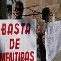 Despedidos de minera La Alumbrera manifestaron frente a la Corte de Justicia
