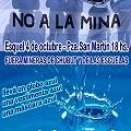 Marcha del NO A LA MINA azul como el agua