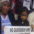 Contundente reclamo al gobierno estatal: «No a la mina»