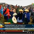 Reinician protestas contra el proyecto minero Conga