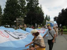 Marcha contra la megamineria en la Comarca Andina