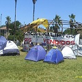 Acamapada de resistencia contra megaproyectos en La Paloma