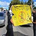 Actos de protesta contra el fracking frente a YPF