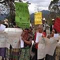Líderes comunitarios en contra de la minería en Cubulco