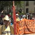 Sectores populares marcharon contra nueva ley minera y ciudades modelo