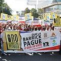 Marcharon a la embajada de Canadá contra minera Barrick