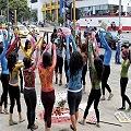 Mujeres en Bucaramanga se desnudan en defensa del agua