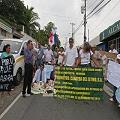 Moradores de Arraiján protestan contra explotación minera del cerro Cabra