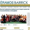 Renunció la cúpula de Barrick Gold para Sudamérica