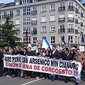 Un millar de españoles  rechazan la mina de Corcoesto