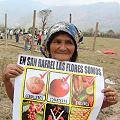 Pobladores protestan y se instalan junto a mina San Rafael