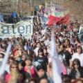 Masiva marcha para repudiar la represión en Neuquén