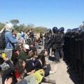 Reprimen a vecinos contra Monsanto: detenidos y heridos. Sigue el acampe