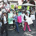 Marchan contra construcción de mineras a cielo abierto
