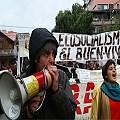 Marcharon los vecinos y realizaron una declaración contra la megaminería