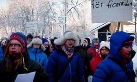 Manifestaron en Estocolmo contra el extractivismo en su país y en el extranjero