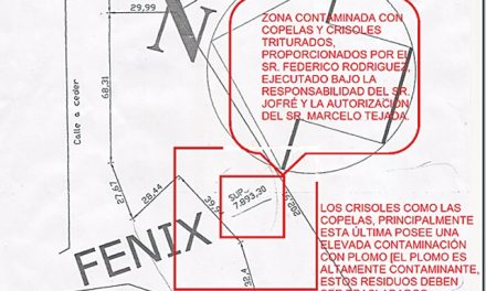Subcontratista de Minera Santa Cruz entierra desechos contaminantes a la vera del Río Fenix