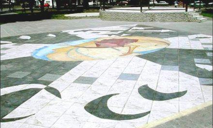 A colocar entre todos la baldosa de la consulta popular en la Plaza San Martín